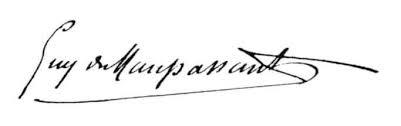 signature maupassant